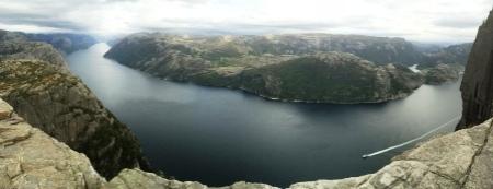 Du haut du Preikenstolen, Lysefjord, Norvège, septembre 2016