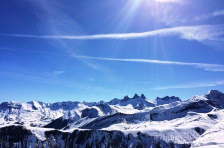 Aiguilles d'Arves, Alpes, mars 2016